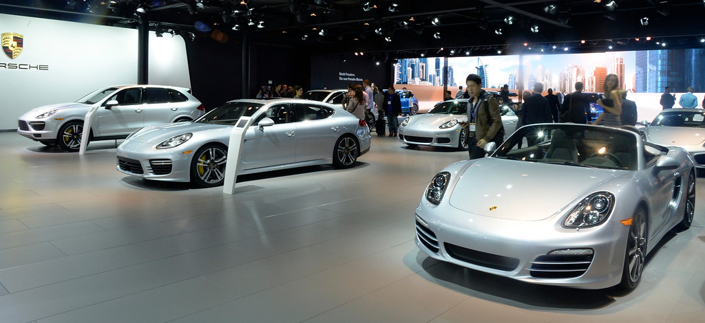 . Nov 22,2013 Los Angeles CA. The new 2014 Porsche cars on displays during the 2nd media day at the Los Angeles Auto Show.The show opens today Friday and runs through Dec 1st. Photo by Gene Blevins/LA Daily News