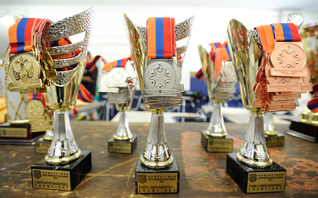 . Winners will take home all kinds of hardware after the months-long Homenetmen Navasartian Games, an Armenian athletic competition that involves thousands of competitors, that concluded Saturday at Birmingham High School in Van Nuys, CA. 7/6/2013(John McCoy/LA Daily News)