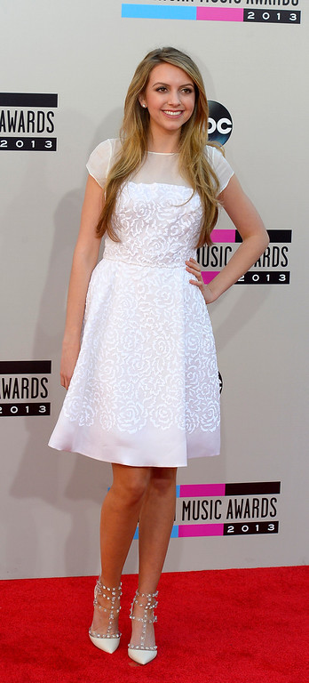 . Brandi Cyrus arrives to the American Music Awards  at the Nokia Theatre in Los Angeles, California on Sunday November 24, 2013 (Photo by Andy Holzman / Los Angeles Daily News)