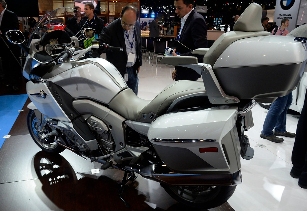 . Nov 20,2013 Los Angeles CA. USA.  BMW K1600 GTL bike on display during the 2013 Los Angeles Auto Show. Photo by Gene Blevins/LA Daily News