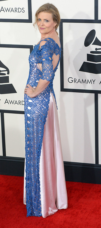 . Tierney Sutton arrives at the 56th Annual GRAMMY Awards at Staples Center in Los Angeles, California on Sunday January 26, 2014 (Photo by David Crane / Los Angeles Daily News)
