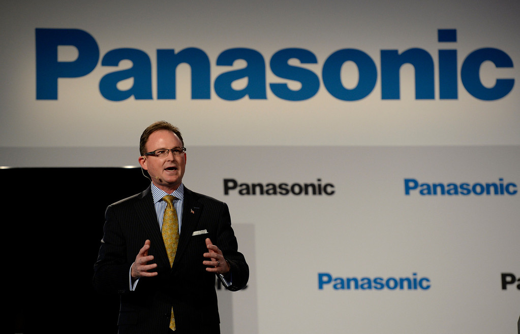 . Jan 6,2014.  Las Vegas NV. USA. President of Panasonic systems company of North America Rancee Poehler talks  during the Panasonic press conference  at the 2014 CES media day show Monday. The 2014 CES show starts this Tuesday and runs till Friday with a estimated crowd of 150,000 to attend the show.. Photo by Gene Blevins/LA Dailynews