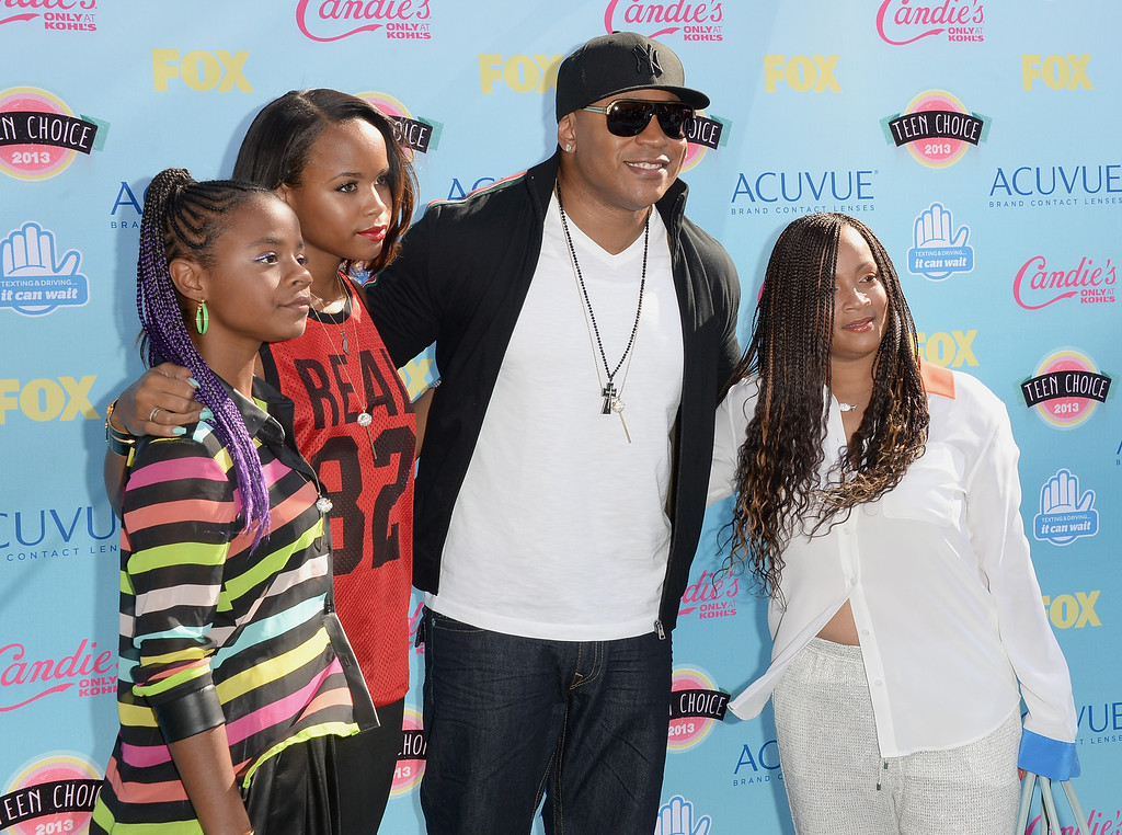 . Actor-rapper LL Cool J and family attend the Teen Choice Awards 2013 at Gibson Amphitheatre on August 11, 2013 in Universal City, California.  (Photo by Jason Merritt/Getty Images)