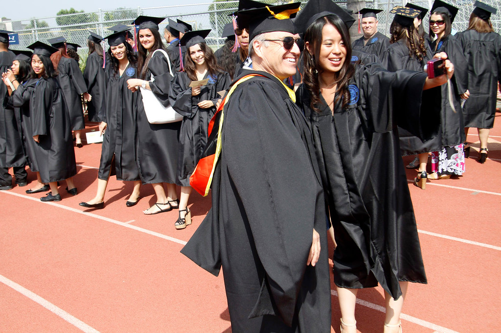 . Graduates during the Citrus College 97th Commencement Ceremony, at Citrus College Stadium, in Glendora, Saturday, June 15, 2013. (Correspondent Photo by James Carbone/SVCITY)