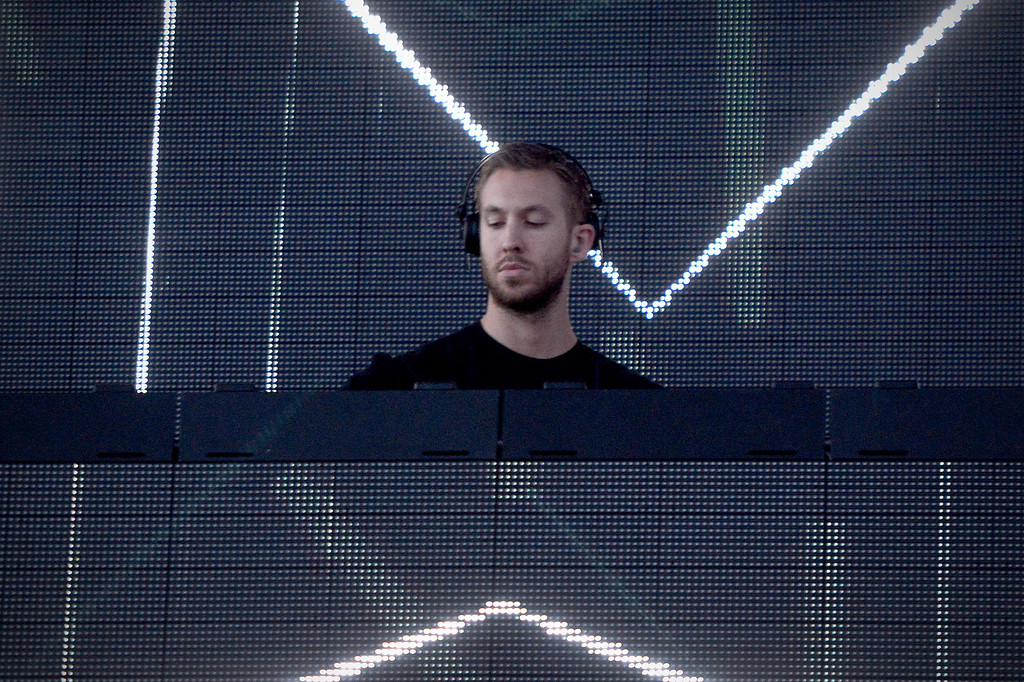 . Calvin Harris performs on the Coachella Stage Sunday during the first weekend of the Coachella Valley Music and Arts Festival, April 13, 2014. (Photo by Sarah Reingewirtz/Pasadena Star-News)