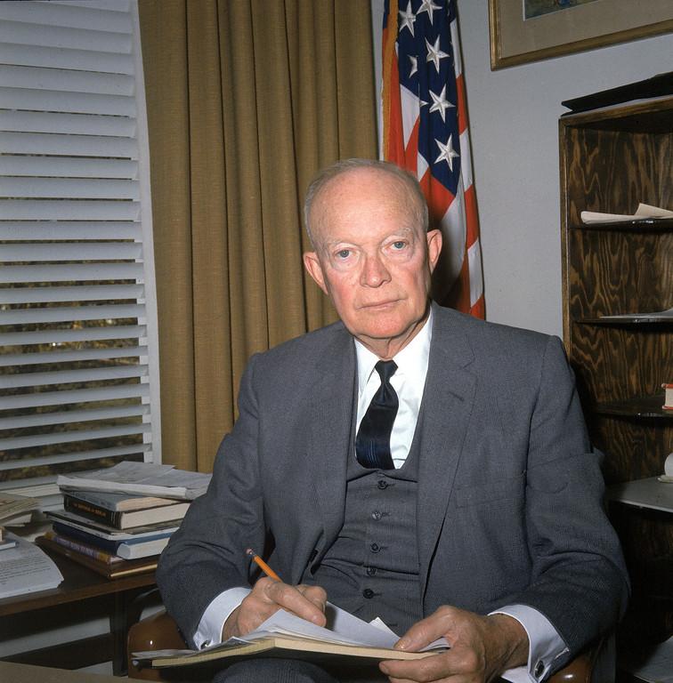 . 1964 Rose Parade grand marshal, President Dwight Eisenhower.  (AP Photo)