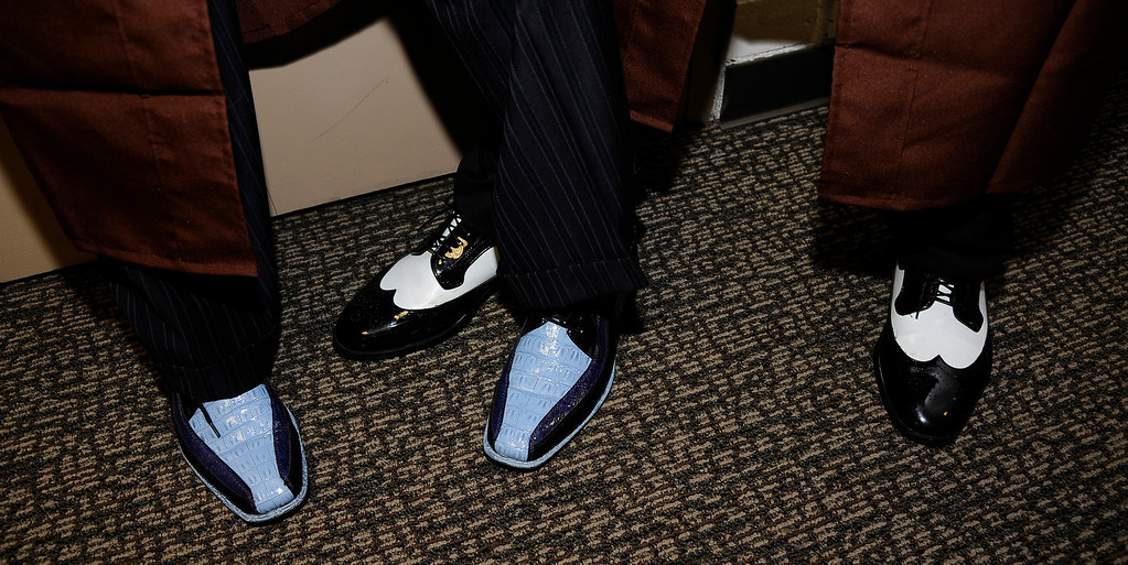 . Grads go in style with fancy shoes during the Crespi High class of 2013 graduation. May 24.2013.  Photos by Gene Blevins/LA DailyNews
