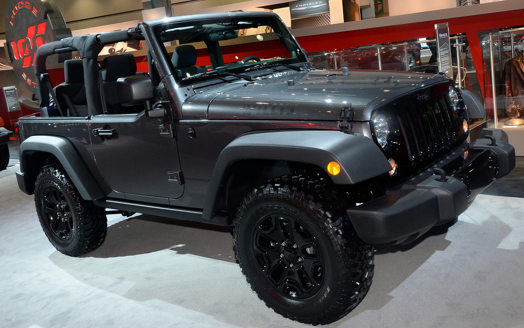 . Nov 22,2013 Los Angeles CA. The new 2014 Jeep Wrangler Willys Wheeler on displays during the 2nd media day at the Los Angeles Auto Show.The show opens today Friday and runs through Dec 1st. Photo by Gene Blevins/LA Daily News