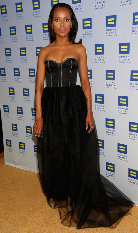 . LOS ANGELES, CA - MARCH 23:  Actress Kerry Washington attends the 2013 Human Rights Campaign Los Angeles Gala at JW Marriott Los Angeles at L.A. LIVE on March 23, 2013 in Los Angeles, California.  (Photo by Imeh Akpanudosen/Getty Images)
