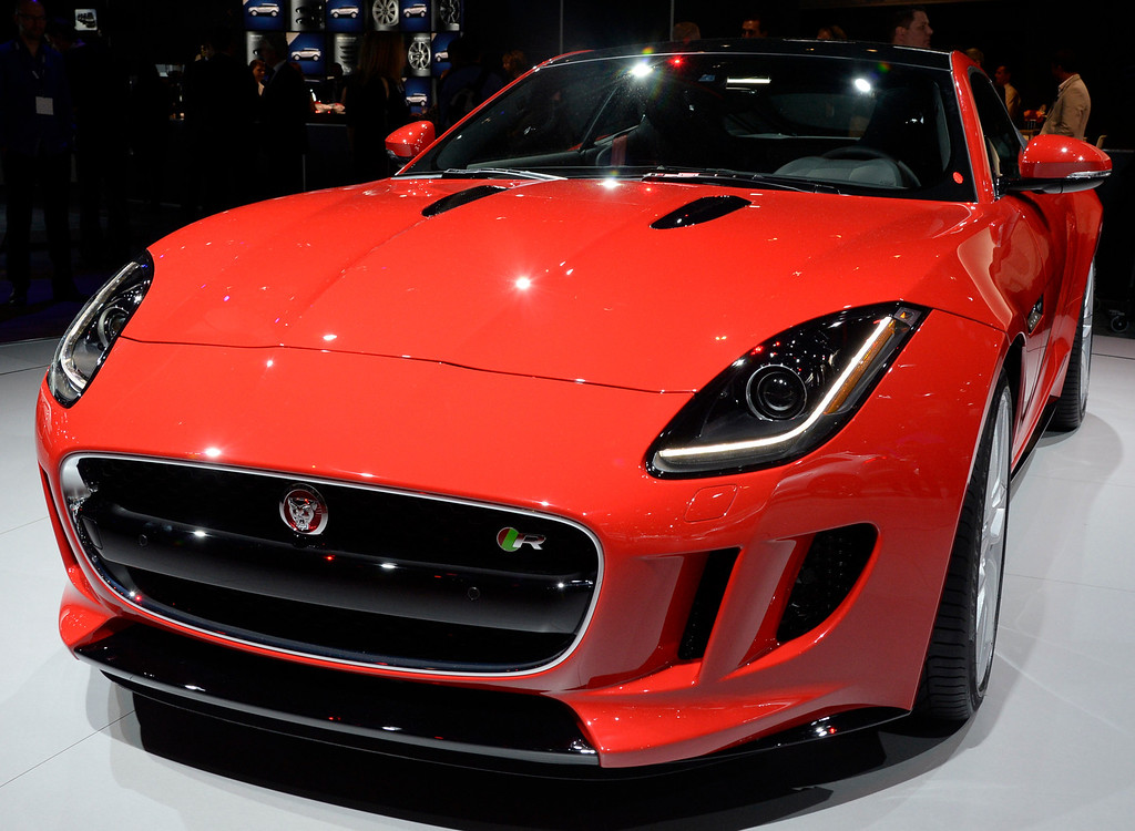 . Nov 20,2013 Los Angeles CA. USA. The new Jaguar F-Type  on display during the 2013 Los Angeles Auto Show. Photo by Gene Blevins/LA Daily News
