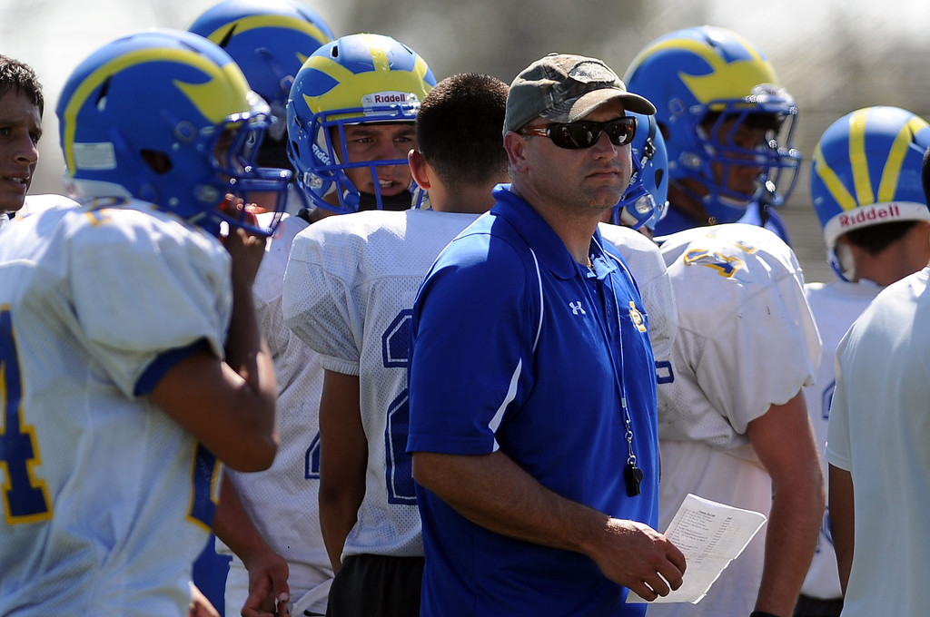 . Coach Bill Zernickow during practice at San Dimas High School on Friday, Aug. 9, 2013 in San Dimas, Calif.   (Keith Birmingham/Pasadena Star-News)