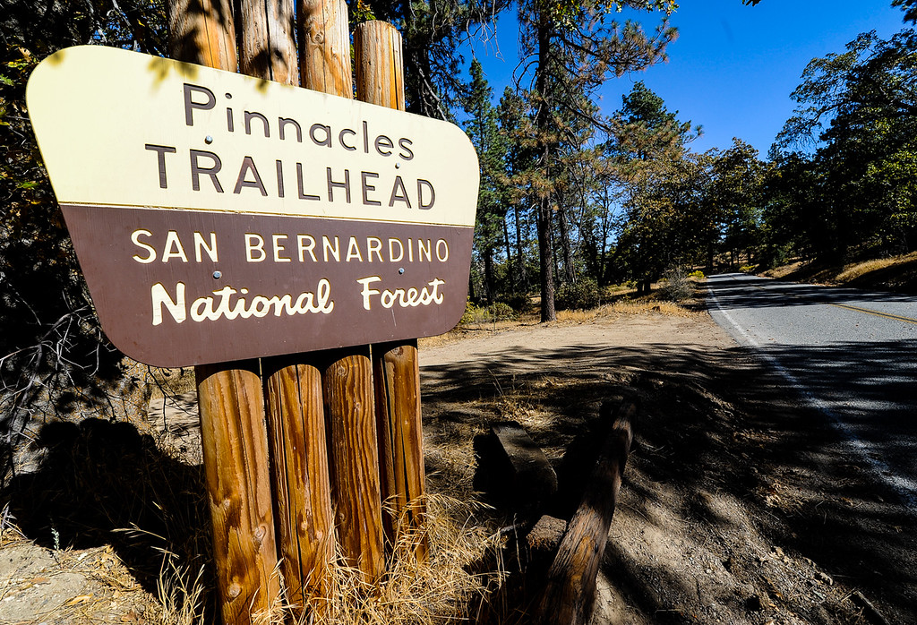 . Efforts to find a missing German hiker continue in the San Bernardino Mountains near Lake Arrowhead on Friday, Oct. 4, 2013. Alyof Krost, 62, went missing Tuesday afternoon after hiking with a group of 20 people on the Pinnacle Trail near Lake Arrowhead. (Photo by Rachel Luna / San Bernardino Sun)