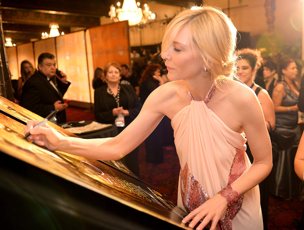 . Cate Blanchett backstage at the 20th Annual Screen Actors Guild Awards  at the Shrine Auditorium in Los Angeles, California on Saturday January 18, 2014 (Photo by Michael Owen Baker / Los Angeles Daily News)