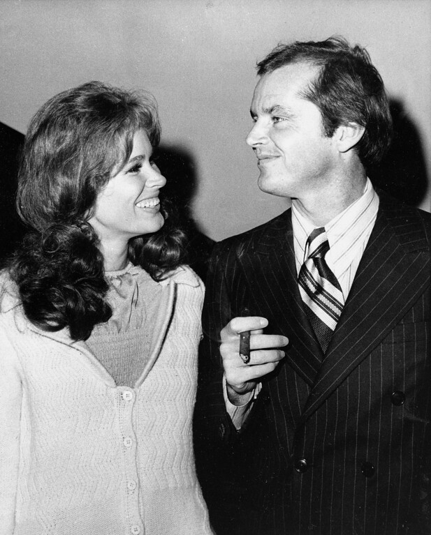 ". FILE - In this Sept. 11, 1970 file photo, Jack Nicholson, right, and co-star Karen Black appear together at New York\'s Philharmonic Hall to attend the premiere of their new film ""Five Easy Pieces.\"" Black�s husband, Stephen Eckelberry, says the actress died Wednesday, Aug. 7, 2013, after battling cancer. She was 74.  (AP Photo, File)"