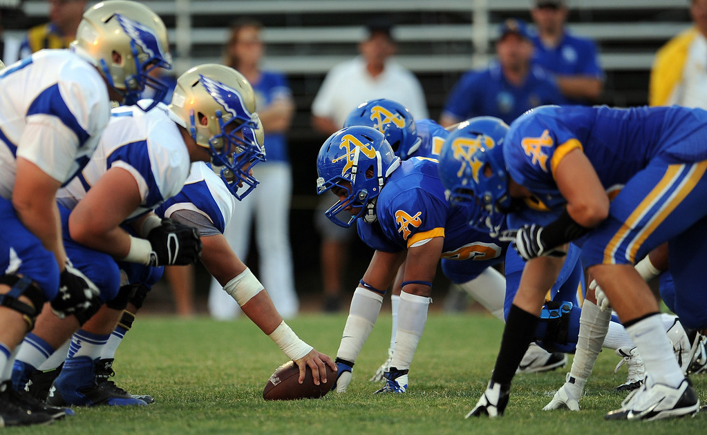 . Santa Margarita vs. Bishop Amat during a prep football game at Bishop Amat High School on Friday, Aug. 30, 2013 in La Puente, Calif.   (Keith Birmingham/Pasadena Star-News)