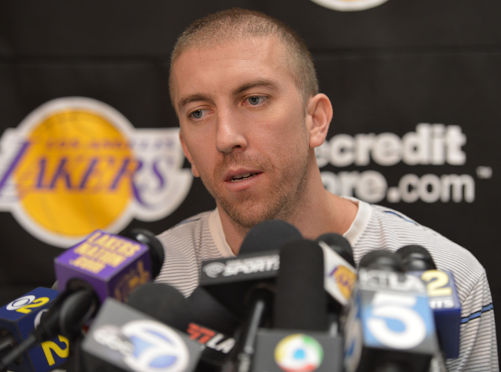 . Day 2 of Lakers exit interviews. Steve Blake. El Segundo, CALIFORNIA--4/30/13--- Staff Photo: Robert Casillas / Daily Breeze