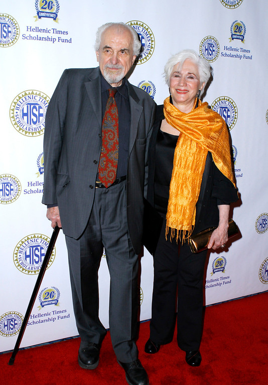 . NEW YORK, NY - MAY 14: Louis Zorich and Olympia Dukakis attend the 20th Anniversary Hellenic Times Gala at The New York Marriott Marquis on May 14, 2011 in New York City. (Photo by Donna Ward/Getty Images)