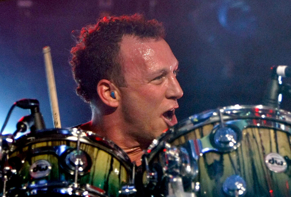 ". LAS VEGAS - MAY 18:  Jane\'s Addiction drummer Stephen Perkins performs at The Pearl concert theater at the Palms Casino Resort May 18, 2009 in Las Vegas, Nevada. The band, touring with all four original members for the first time since 1991, released the four-disc box set, ""A Cabinet of Curiosities\"" in April.  (Photo by Ethan Miller/Getty Images)"
