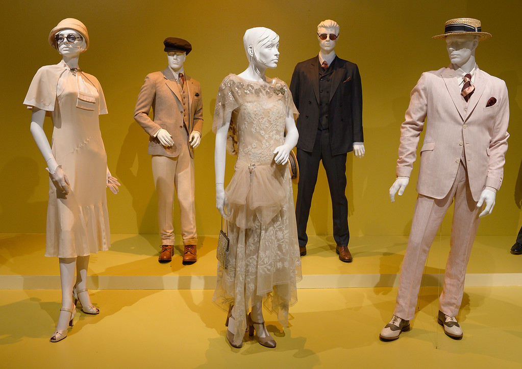 """. Costumes from \""""The Great Gatsby.\"""" FIDM/Fashion Institute of Design & Merchandising is hosting the Art of Motion Picture Costume Design, which features 100 costumes from over 20 selected films, including Oscar nominated designs. Los Angeles, CA. February 09, 2014 (Photo by John McCoy / Los Angeles Daily News)"""