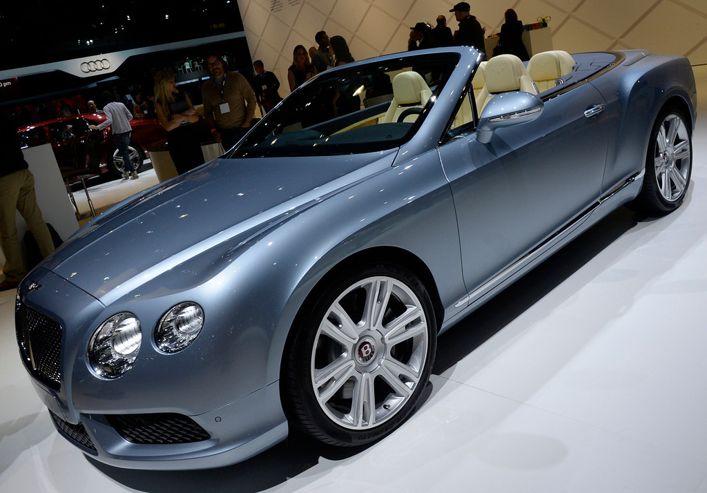 . Nov 20,2013 Los Angeles CA. USA. The new Bentley GTCV8 on display during the 2013 Los Angeles Auto Show. Photo by Gene Blevins/LA Daily News