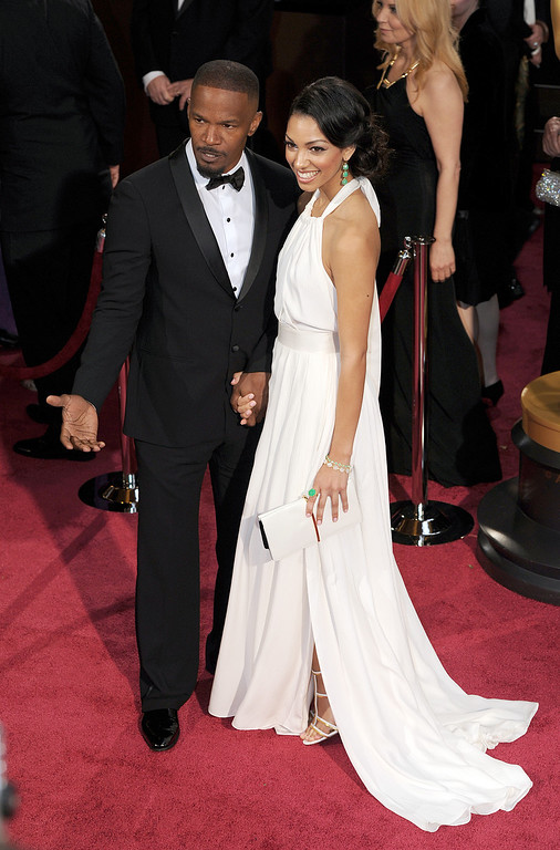. Jamie Foxx and Corinne Foxx attend the 86th Academy Awards at the Dolby Theatre in Hollywood, California on Sunday March 2, 2014 (Photo by John McCoy / Los Angeles Daily News)