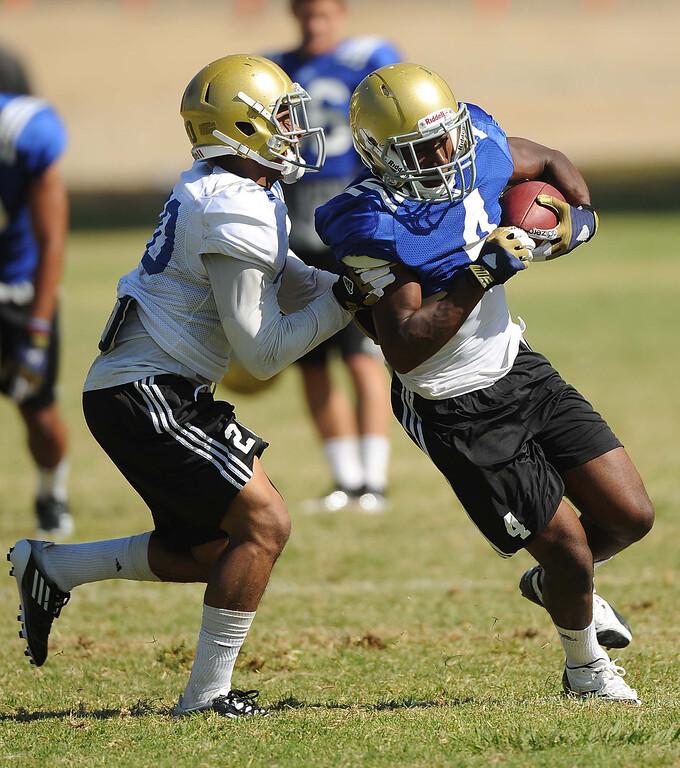 . UCLA football practice held at California State University San Bernardino August 14, 2013. LaFonzo Carter/ Staff Photographer