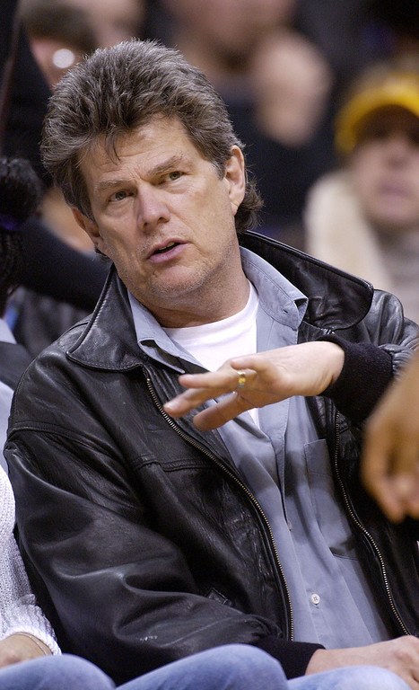 . LOS ANGELES - FEBRUARY 1:  Music producer David Foster watches the Utah Jazz play the Los Angeles Lakers  on February 1, 2003 at Staples Center in Los Angeles, California. (Photo by Vince Bucci/Getty Images)