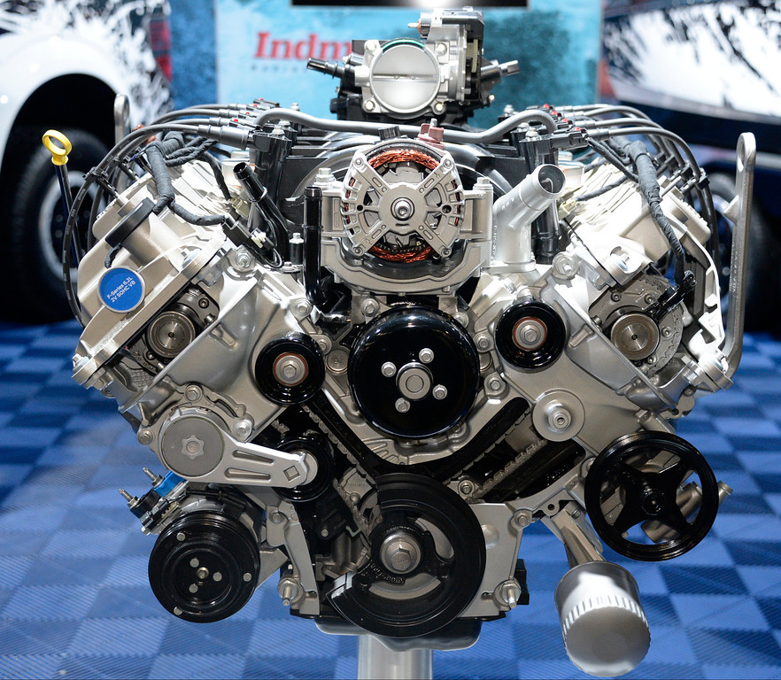 . Nov 5,2013 Las Vegas NV. USA. The new 6.2L 2V SOHC V8  engine on display during the first day of the 2013 SEMA auto show. (Photo by Gene Blevins/LA Daily News)