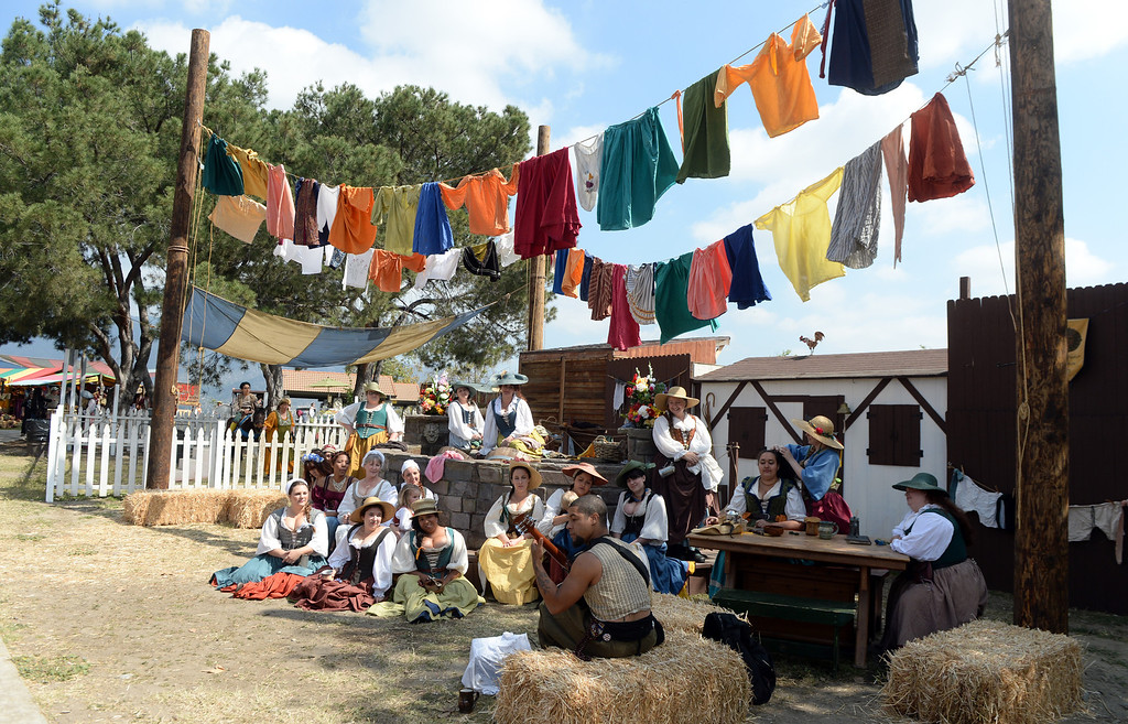 . Opening day of the Renaissance Pleasure Faire as many dress in period clothing at Santa Fe Dam Recreation Area in Irwindale, Calif., on Saturday, April 5, 2014.  (Keith Birmingham Pasadena Star-News)