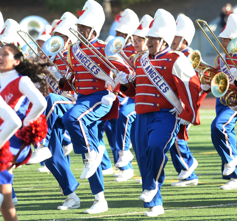 . The Los Angeles Unified School District All District High School Honor Band performs during the 34th Annual Pasadena Tournament of Roses Bandfest at Pasadena City College on Monday December 30, 2013. (Staff Photo by Keith Durflinger/Pasadena Star-News)