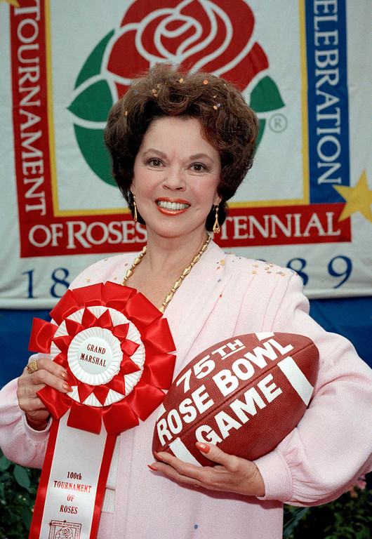 . Shirley Temple Black, who will be the Grand Marshall for the Pasadena Tournament of Roses, is shown, Oct. 19, 1988.  (AP Photo)