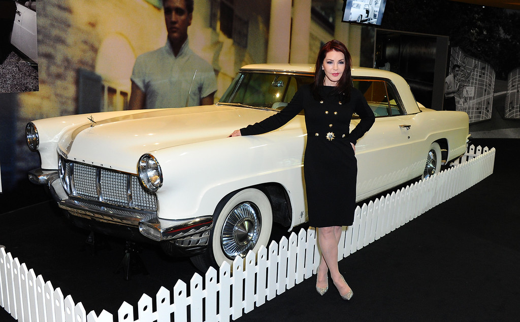 . Priscilla Presley visits the \'Elvis at the 02\' exhibition at 02 Arena on December 15, 2014 in London, England.  (Photo by Stuart C. Wilson/Getty Images)