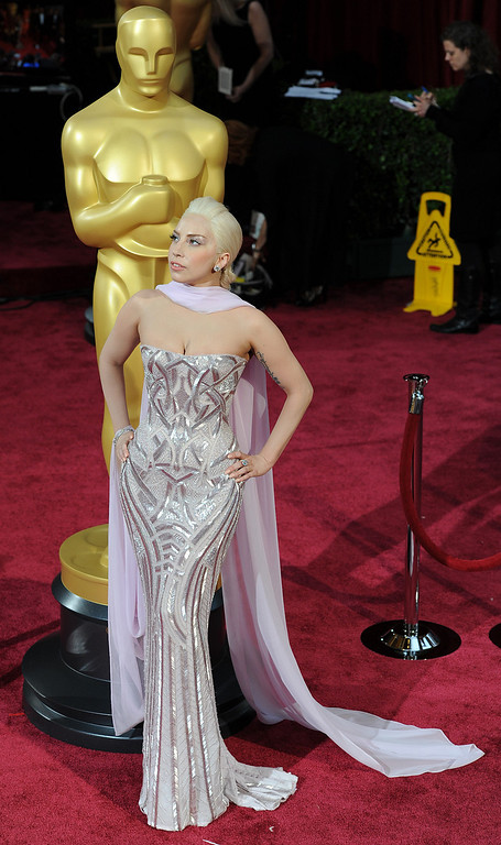 . Lady Gaga attends the 86th Academy Awards at the Dolby Theatre in Hollywood, California on Sunday March 2, 2014 (Photo by John McCoy / Los Angeles Daily News)
