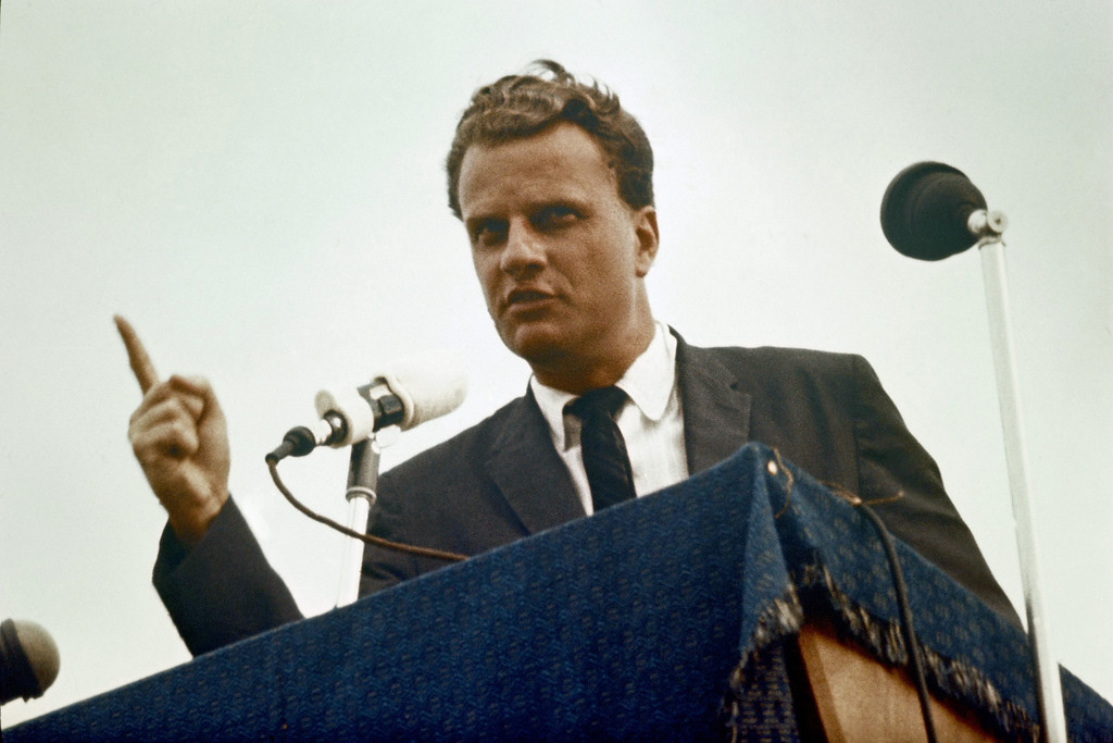 . Billy Graham American Evangelist  on January 01, 1966. (AP Photo)