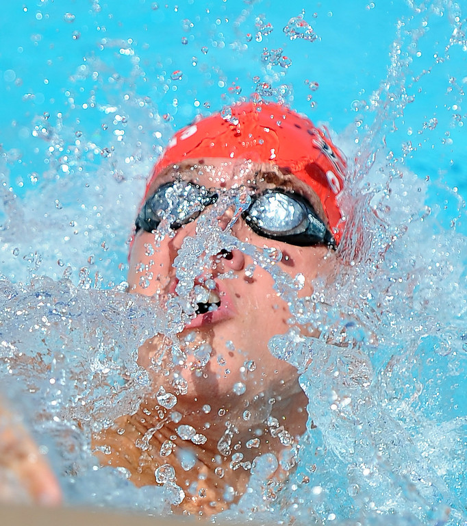 . Lakewood\'s Daniel McArthur finished second in the 200 yard IM during the CIF-SS Division II swim finals at Riverside City College on Saturday, May 11, 2013 in Riverside, Calif.  (Keith Birmingham Pasadena Star-News)