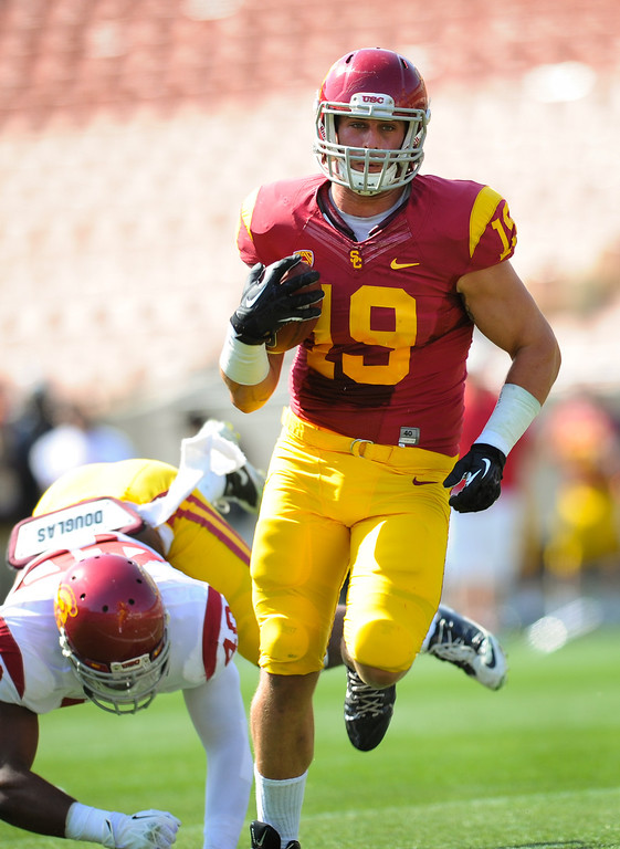 . USC spring game. (Photo by Michael Owen Baker/L.A. Daily News)