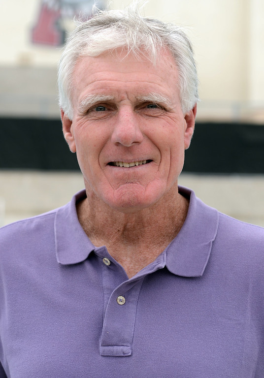 . Bob Mount has been named Coach of the Year to the Inland Valley Daily Bulletin\'s All-Area Swim Team. Mount is girl\'s swimming coach at Ayala High School. Thomas Cordova staff photographer Inland Valley Daily Bulletin.
