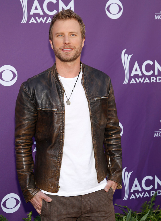 . Dierks Bentley arrives at the 47th Annual Academy of Country Music Awards on Sunday, April 1, 2012 in Las Vegas. (AP Photo/Isaac Brekken)