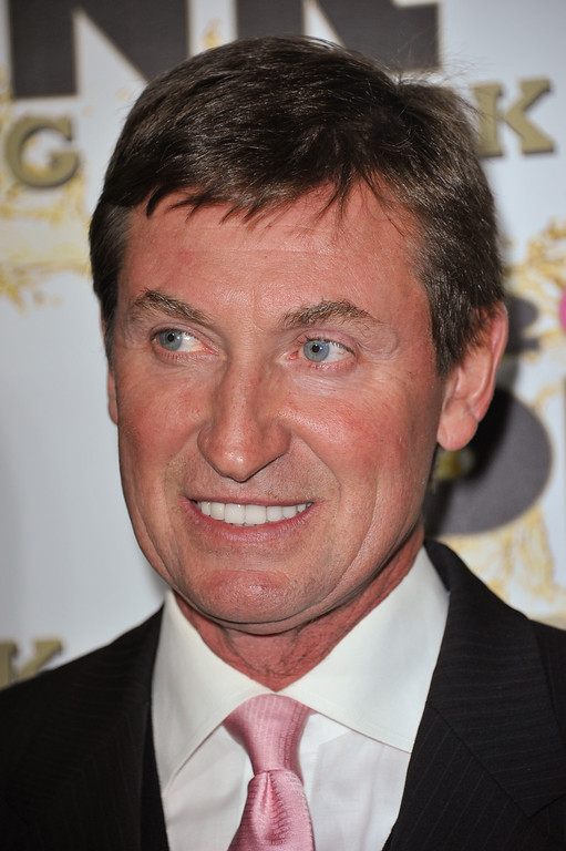 . Wayne Gretzky attends the Mr. Pink Ginseng launch party at the Beverly Wilshire hotel on Thursday, Oct. 11, 2012, in Beverly Hills, Calif. (Photo by Richard Shotwell/Invision/AP)