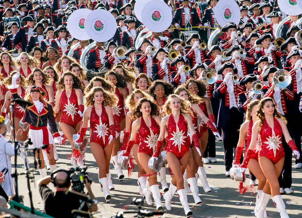 . Homewood Patriot Band of Homewood, Alabama, during 2014 Rose Parade in Pasadena, Calif. on January 1, 2014. (Staff photo by Leo Jarzomb/ Pasadena Star-News)