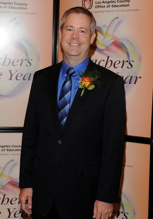 . Craig Michael from West Covina USD. Sixteen teachers from throughout the Los Angeles County were named as Teachers of the Year during a ceremony at the Universal Hilton. Teachers received a cash award from the California Credit Union as well as software and hardware to use in their classrooms from eInstruction. Universal City, CA. 9/27/2013. photo by (John McCoy/Los Angeles Daily News)
