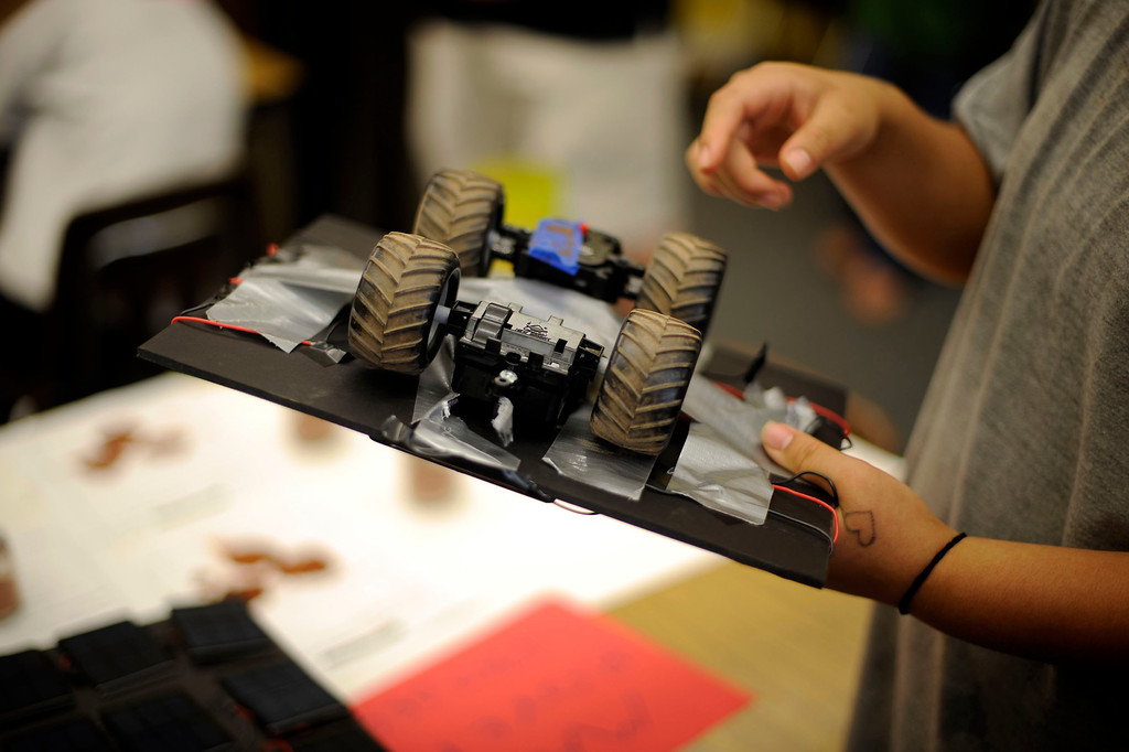 . Robots, inspired by the Mars Rover, that was built by the Road to Success Academy at Probation at Camp Scott in Santa Clarita Wednesday, May 22, 2013. (Hans Gutknecht/Los Angeles Daily News)