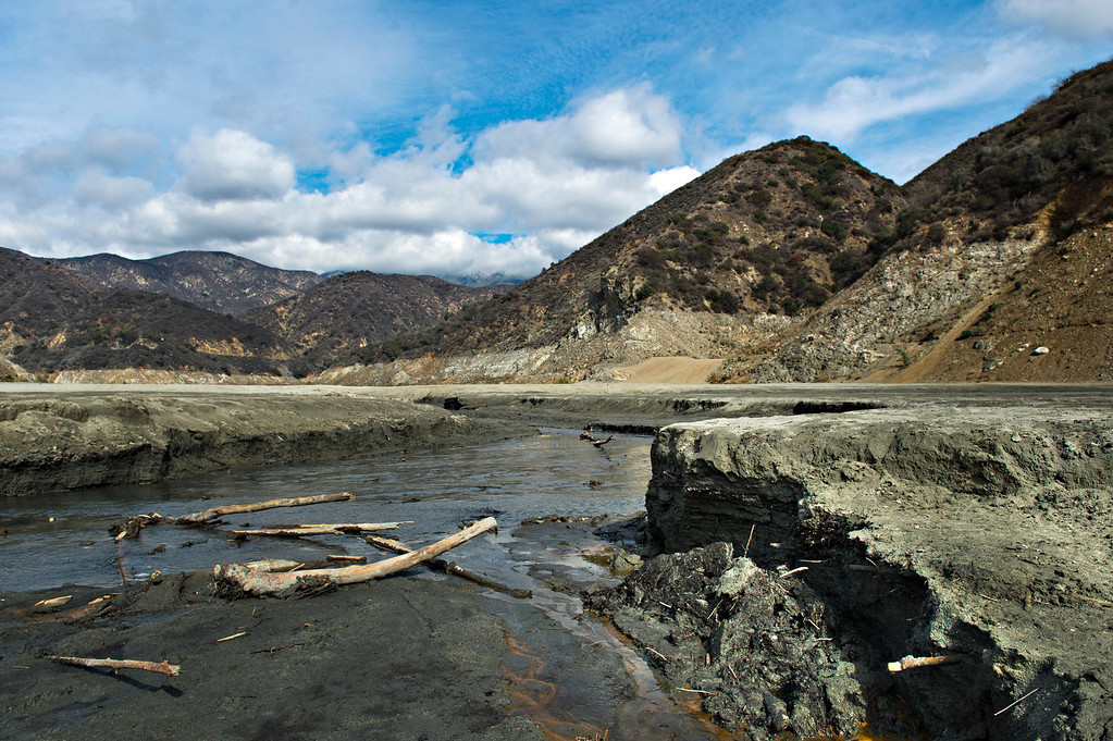 . The trickle of the San Gabriel River in the Angeles National Forest just south of San Gabriel Dam on Friday, Feb. 7, 2014 shows the effects of the prolonged drought. (Photo by Watchara Phomicinda/ San Gabriel Valley Tribune)