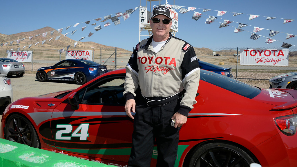 . March 15,2014. Rosamond CA. Two-time indy 500 racer Al Unser Jr. gets ready to race with the celebrities in the Long Beach Grand Prix during practice racing with instructors in Toyota race cars at the Willow Springs International Raceway Saturday. Photo  by Gene Blevins/LA DailyNews