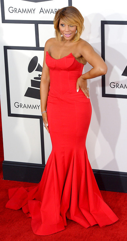 . Tamar Braxton arrives at the 56th Annual GRAMMY Awards at Staples Center in Los Angeles, California on Sunday January 26, 2014 (Photo by David Crane / Los Angeles Daily News)