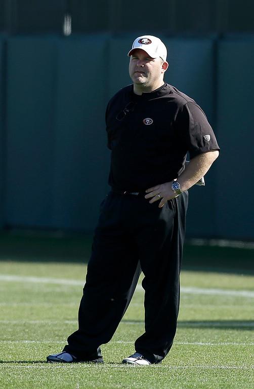 . <b>Greg Roman</b> <br />Offensive coordinator, San Francisco 49ers  (Jan. 18, 2013) (AP Photo/Jeff Chiu)