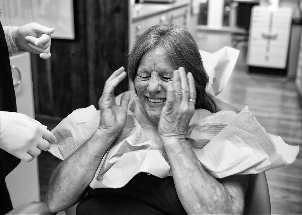 . Dorothy receives her new set of teeth.