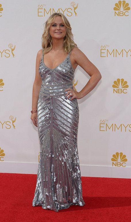 . Amy Poehler on the red carpet at the 66th Primetime Emmy Awards show at the Nokia Theatre in Los Angeles, California on Monday August 25, 2014. (Photo by John McCoy / Los Angeles Daily News)
