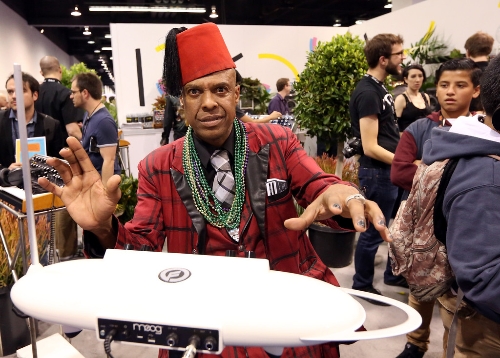 . ANAHEIM, CA - JANUARY 25:  Drummer John Steward attends the 2014 National Association of Music Merchants show at the Anaheim Convention Center on January 25, 2014 in Anaheim, California.  (Photo by Jesse Grant/Getty Images for NAMM)