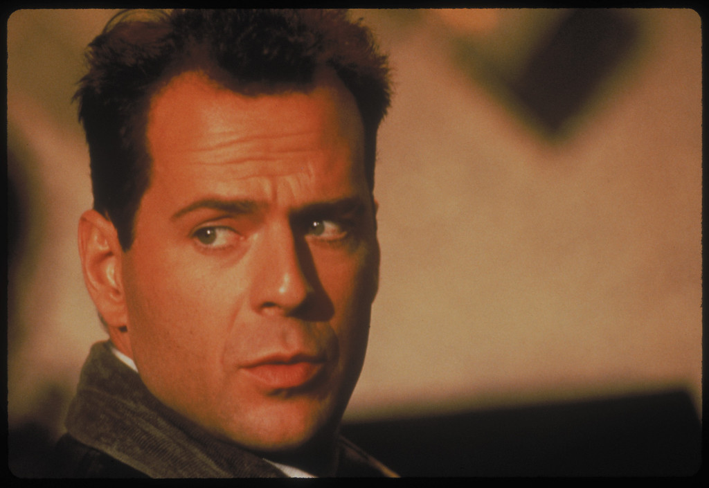 ". The first ""Die Hard\"" movie starring Bruce Willis as New York City Detective John McClane is released on 7/15/88."